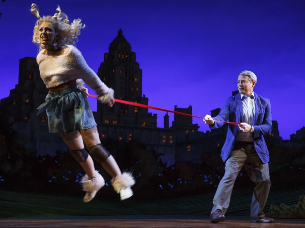 Sylvia- Annaleigh Ashford and Matthew Broderick. Photo by Joan Marcus
